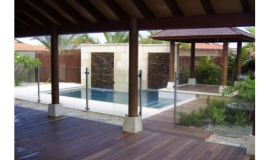 Aluminium Semi Frameless Glass Pool Fencing